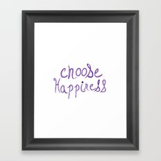 Choose Happiness (purple) Framed Art Print