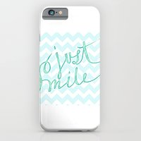 iPhone & iPod Case featuring Just Smile - hand lettered calligraphy art print by JMore