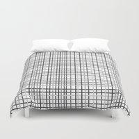 Weave Black And White Duvet Cover
