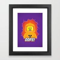 Oops! Framed Art Print