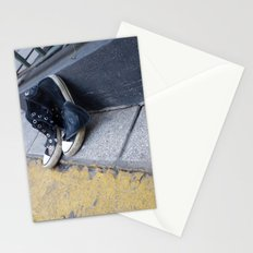 Alone on the street Stationery Cards