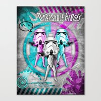 Star Wars Disposable Heroes! Canvas Print