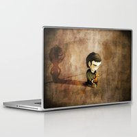 Laptop & iPad Skin featuring Shy by Lee Grace Illustration