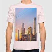 Sunset from the Southside Mens Fitted Tee Light Pink SMALL