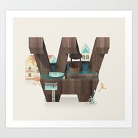 Resort Type - Letter W Art Print