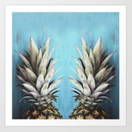 Art Print featuring How About Those Pineappl… by Chelsea Victoria