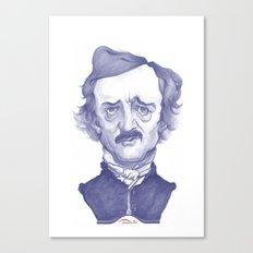 Edgar Allan Poe Illustra… Canvas Print