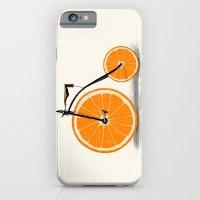 orange iPhone & iPod Cases featuring Vitamin by Florent Bodart / Speakerine