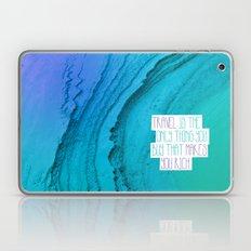 Travel mindfulness print Laptop & iPad Skin
