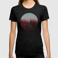hideout (back to unnatural) Womens Fitted Tee Tri-Black SMALL