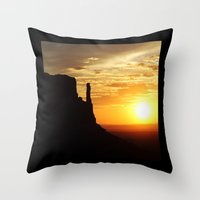 Sunrise Over Monument Va… Throw Pillow