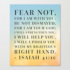 Isaiah 41:10 Bible Quote Canvas Print