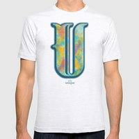U is for Unique Mens Fitted Tee Ash Grey SMALL