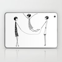 Flappers playing jump rope Laptop & iPad Skin
