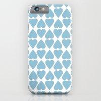 Diamond Hearts Repeat Blue iPhone 6 Slim Case