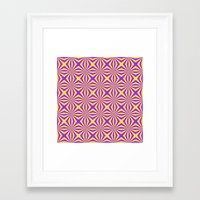 Sunbeams In Violet And Y… Framed Art Print