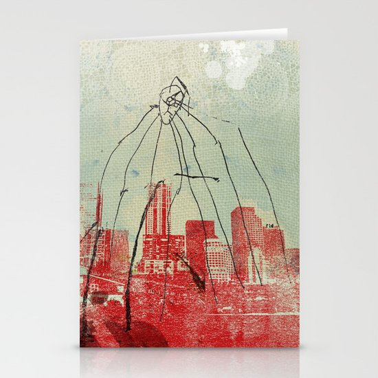 War of the Worlds Stationery Card