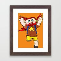 Getting jiggy with it - Minecraft Avatar Framed Art Print