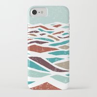 mountain iPhone & iPod Cases featuring Sea Recollection by Efi Tolia