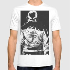 en lo blaco e negro White Mens Fitted Tee SMALL