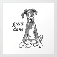Dog Breeds: Great Dane Art Print