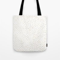 Dotted Gold Tote Bag
