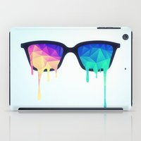Psychedelic Nerd Glasses with Melting LSD/Trippy Color Triangles iPad Case