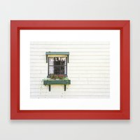 The Green Window Framed Art Print