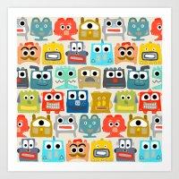 summer baby robots Art Print