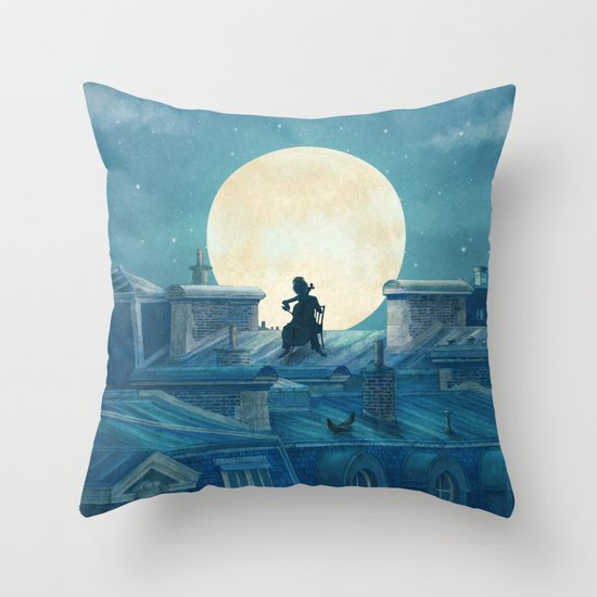 Rooftoppers - square format  Throw Pillow