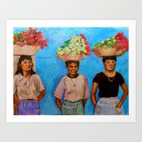 Selling Flowers Art Print