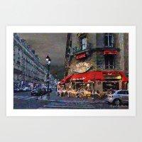 Dusk In Paris Art Print