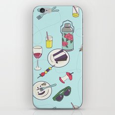 messy picnic iPhone & iPod Skin
