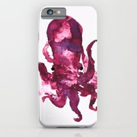 iPhone & iPod Case featuring pink octopus by Okti