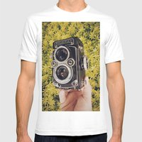 Rolleiflex Mens Fitted Tee White SMALL