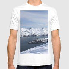 Blackstone Bay Mens Fitted Tee SMALL White