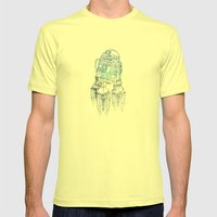 R2D2 Print Mens Fitted Tee Lemon SMALL