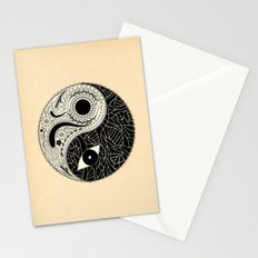 - yin & yang - [collaborative art with famenxt] Stationery Cards