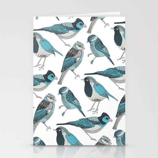 pale green birds Stationery Card