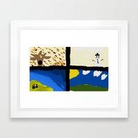Seasons by Child Framed Art Print