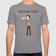The Walking Dead Mens Fitted Tee Tri-Grey SMALL