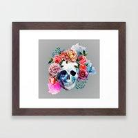 Flower Skull Framed Art Print