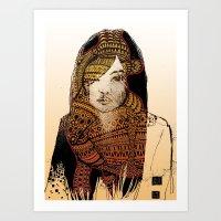 Native Girl Art Print