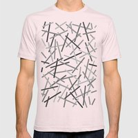 Kerplunk Black Mens Fitted Tee Light Pink SMALL