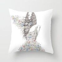 Flower Girl - Pattern Throw Pillow