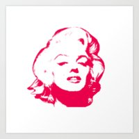 MARILYN POP Art Print