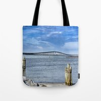 Bridge to sand and sea Tote Bag