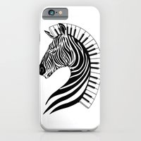 iPhone & iPod Case featuring Zebra Clef by ELECTRICMETHOD.NET