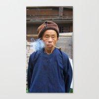 Long-Skirt Miao Minority… Canvas Print