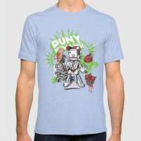 Lil' Sluggerbot! Mens Fitted Tee Tri-Blue SMALL